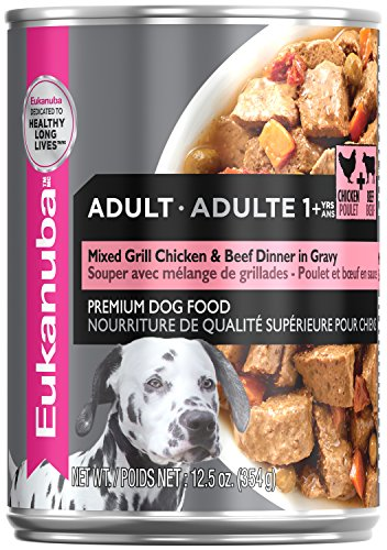 Eukanuba Wet Food Adult Mixed Grill Chicken & Beef Dinner In Gravy Canned Dog Food (Case Of 12), 12.5 Oz