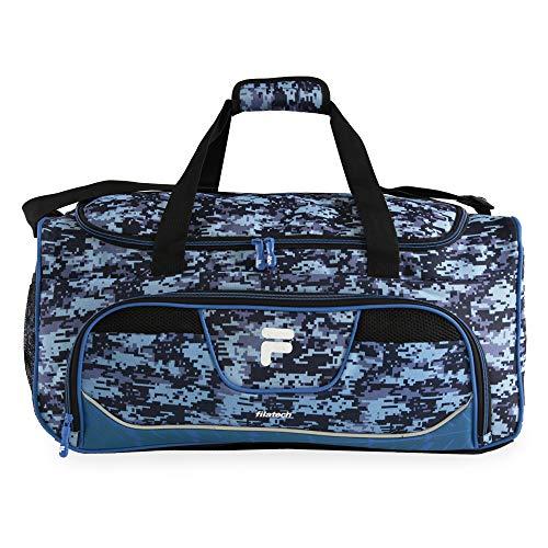 Fila Speedlight Medium Duffel Gym Sports Bag, Blue Digi Camo, One Size