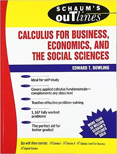 advance caculus for economics schaum series
