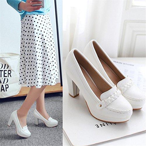 es de Zapatos Estudiantes Zapatos de Mujeres Los de white Duro Alto los Las Zapatos Sandalette Tacon Las Mujeres y DEDE Ocasionales Coreano de Zapatos BOpwaaqx