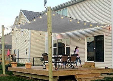 Amazon Com Rectangle Sun Shade Sail Canopy 8 X 12 Patio Shade
