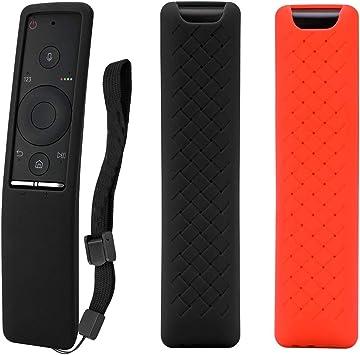 MWOOT 2 Unidades Mando Funda Compatible con Samsung 4K UHD Smart TV Remote BN59-01241A BN59-01242A BN59-01292A, Anti-caída Carcasas Silicona para Samsung Mando a Distancia Protection Negro y Rojo: Amazon.es: Electrónica