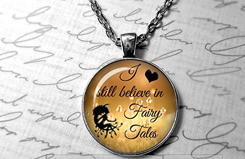 I still believe in fairy tales 398.2 card catalog Necklace Fairy tale jewelry Gold Fairy Librarian Gift Purple Fairies necklace Fairy Garden (Catalog Fairy)