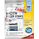 Zero In Moth Killer Strips Odour Free 20 Strips Kills Moths & Eggs by Zero In