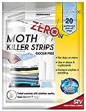 Zero In Moth Killer Strips Odour Free 20 Strips Kills Moths & Eggs
