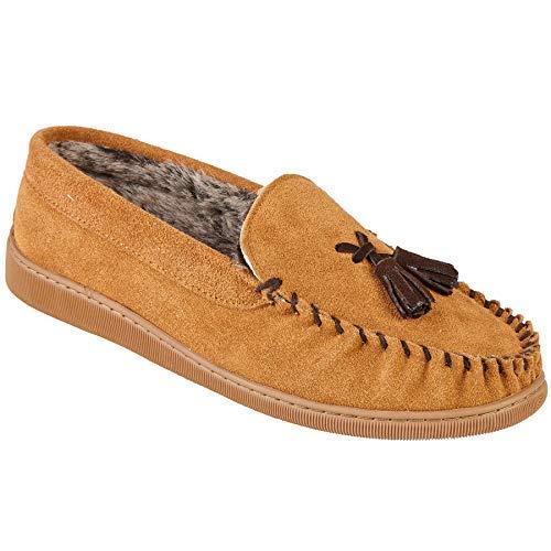Sapphire Boutique Hombre Suela Dura Piel Sintética Interno de Ante sin Cordones Borla Mocasines Zapatillas Cómodas: Amazon.es: Zapatos y complementos