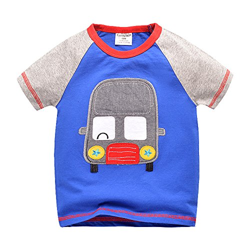 Merida's Little Brothers Costume (Uudora Baby Boy Kids Summer Auto Embroidery Casual Short Sleeve Tops T-shirt 1-6Y)