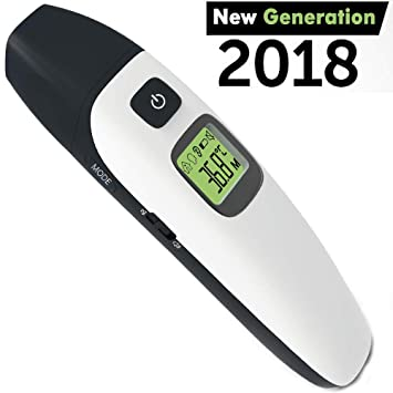 Medical Digital Ear Black Thermometer, Ear Thermometer for Kids, Non Contact Infrared Digital Forehead