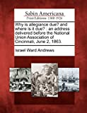Why Is Allegiance Due? and Where Is It Due?, Israel Ward Andrews, 1275828191