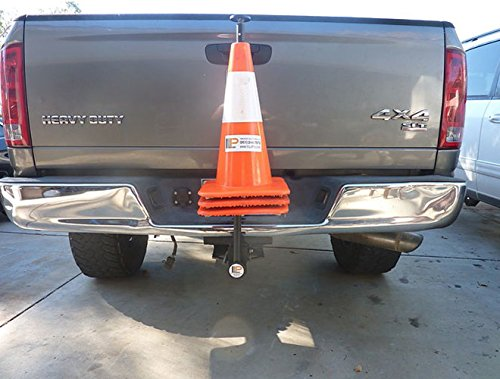 2'' Trailer Hitch Mounted Receiver Safety Cone Holder for Work Trucks, Vans by Innovative Logistics Products (Image #1)