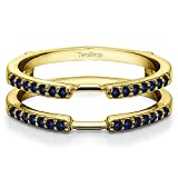 0.28 ct. Sapphire Delicate Traditional Style Ring Enhancer in 10k Yellow gold (1/3 ct. twt.)