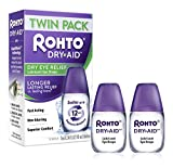 Rohto Dry-Aid Eye Relief Lubricant Eye Drops, 0.34 Ounce, 2 Count