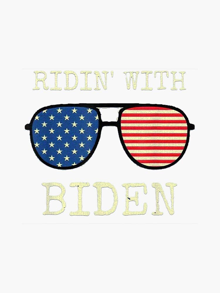 Ridin With Biden Cool Uncle Joe USA Aviator Vote 2020 Vinyl Decal Bumper Sticker Wall Laptop Window Sticker 5