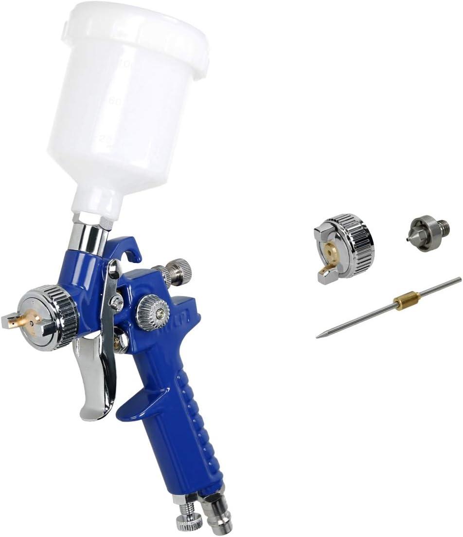 ECD Germany HVLP Pistolet pulverisateur 0,8 mm 1 x Ensemble de buses 1,0 mm Pistolet /à peinture Pistolet /à gravit/é