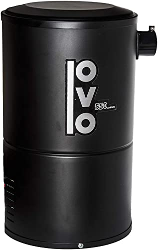 OVO Compact Central Vacuum System For Apartments Condos Small Homes - Small Quiet Central Vac Unit - 550 Airwatts Power Unit - OVO-550ST-18B