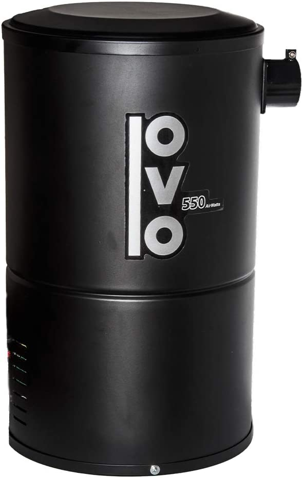 Amazon Com Ovo Compact Central Vacuum System For Apartments Condos Small Homes Small Quiet Central Vac Unit 550 Airwatts Power Unit Ovo 550st 18b Home Kitchen