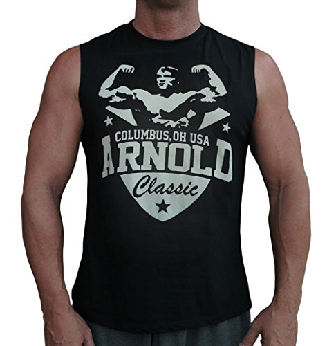 Arnold Schwarzenegger Classic Men's Sleeveless Bodybuilding Stringer Tank Top Shirt Black X-Large