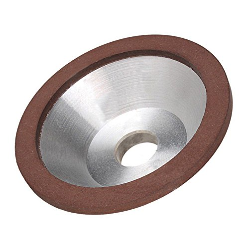 Pevor 100x32x20x5x3mm Diamond Grinding Wheel Resin Bonded Flaring Cup 180 Grit ()