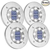 Solar Ground Lights,Garden Pathway Outdoor in-Ground Lights with 8 LED 20180634