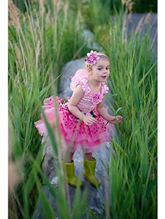 Girls Bumble Bee Set of Satin Tutu with Wings and Deeley Bopper Fairy Outfiy