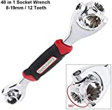 Universal wrench 48 Tools In One Socket, Works with Spline Bolts, 6-12-Point, Torx, Square Damaged Bolts and Any Size Standard or Metric.Lord Of Wrench.socket wrench.universal wrench,Tiger Wrench