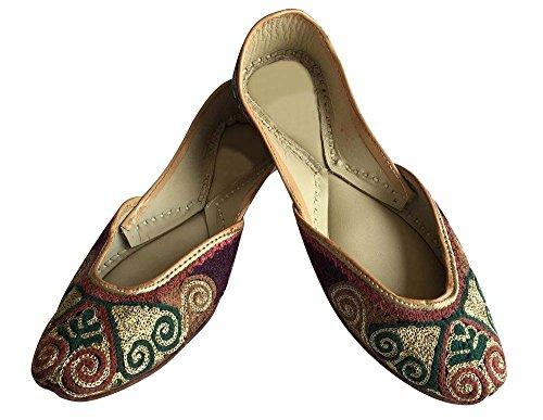 Juttis Shoes N Style Footwear Khussa Saree Step Womens Kurti Punjabi Indian Handmade xYC4qIn
