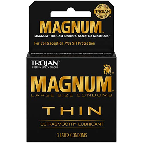 Product Of Trojan, Magnum Thin Ultra Smooth Lubricant, Count 6 (3Pk) - Birth Control / Grab Varieties & Flavors