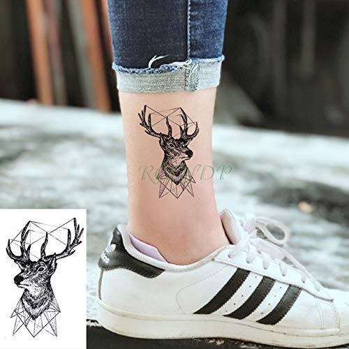ljmljm 5pcs Impermeable del Tatuaje Pegatinas Flor del Tatuaje del ...