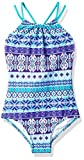 Kanu Surf Big Girls' Mahina Halter Beach Sport 1-Piece Swimsuit, Purple, 14