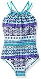 Kanu Surf Big Girls' Mahina Halter Beach Sport 1-Piece Swimsuit, Purple, 10
