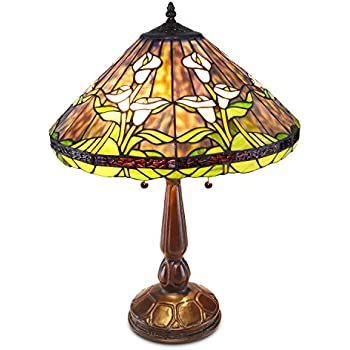 Tiffany Style Calla Lilly Table Lamp Stain Glass Lamps