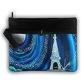 Bing4Bing Double-deck Paris Twinkle Slice Before Printing Jewelry Bag Cosmetic Bag Toiletries Bag