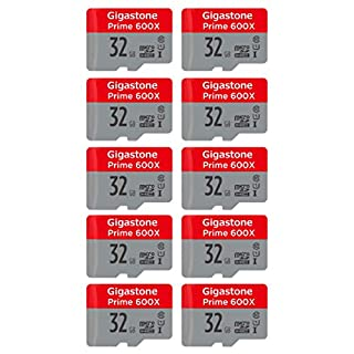 Gigastone Micro SD Card 32GB 10-Pack Micro SDHC U1 C10 with Mini Case MicroSD to SD Adapter High Speed Memory Card Class 10 UHS-I Full HD Video Nintendo Gopro Camera Samsung Canon Nikon DJI Drone