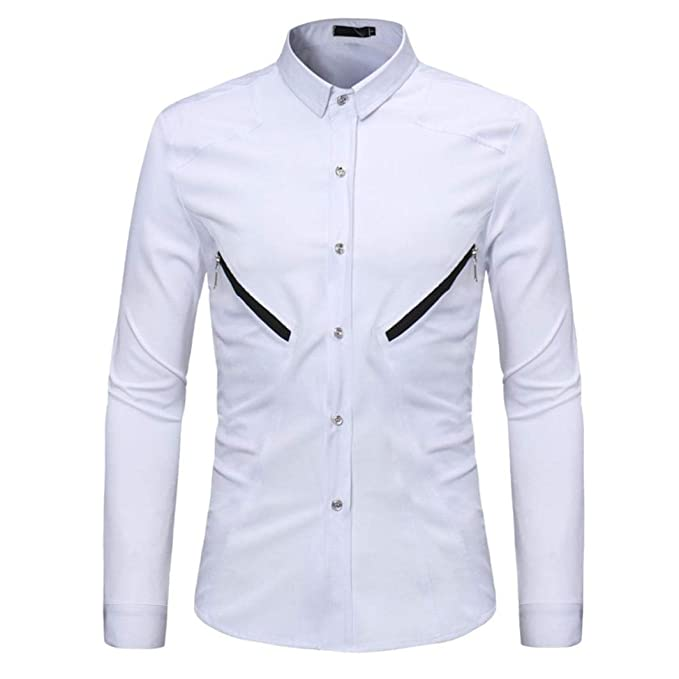 Camisas Casual Hombre Manga Larga, Covermason Blusa de Cremallera Casual sólida de Verano de los Hombres: Amazon.es: Ropa y accesorios