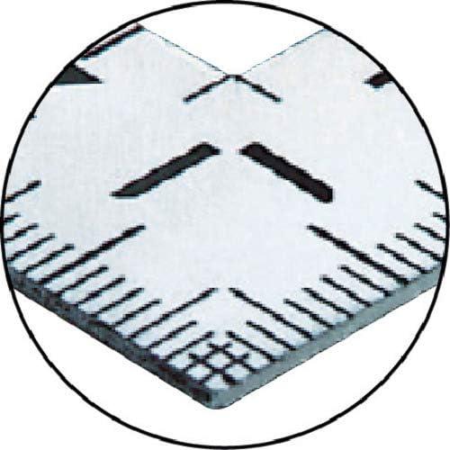 Shinwa mesure de pliage échelle 30 × 15 cm carré 12325 avant et arrière même