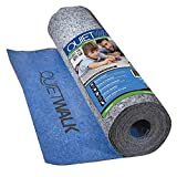 QuietWalk Underlayment for Laminate Flooring with Attached Vapor Barrier Offering Superior Sound Reduction, Moisture Protection, and Compression Resistance, 100 sq. ft, Blue