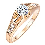 Yoursfs Promise Rings for Her 18K Rose Gold Plated Jewelry Rings Women CZ Engagement Rings Gift