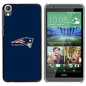 Patriota NFL - Metal de aluminio y de plástico duro Caja del teléfono - Negro - HTC Desire 820