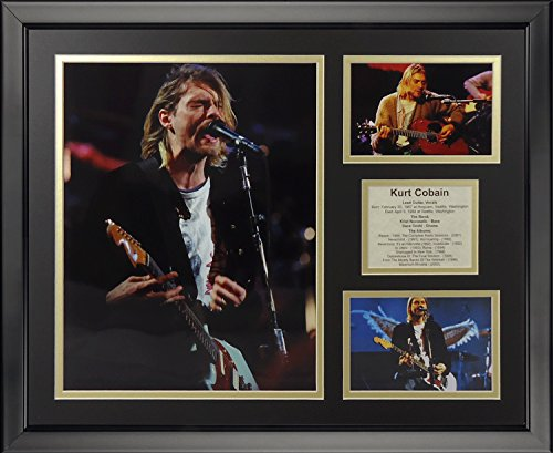 Legends Never Die Kurt Cobain Framed Photo Collage, 16