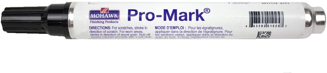 Pro-Mark Touch Up Wood Markers (Black-M267-0001) - for Scratch Repair and Touch-Ups on Wood Furniture: Tables, Desks, Frames, Bed Posts and Trim- by Mohawk Finishing Products