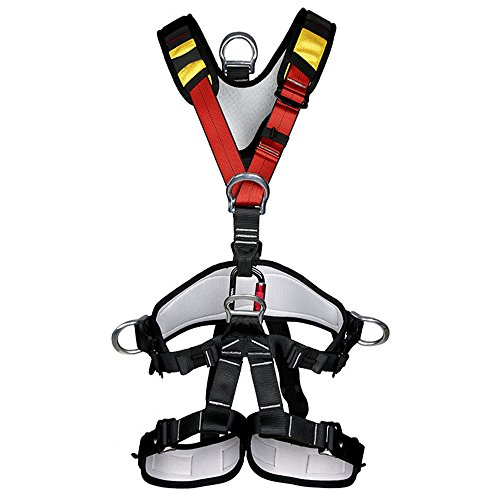 Gorilla Chalk Bag (Full Body Safety Harness Outdoor Climbing Momentum Harness for Mountaineering Outward Band Expanding Trainin Caving Rock Climbing Rappelling)