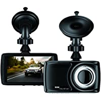 BUIEJDOG 3.5 Dash Cam In Car Camera DVR. 1080P Full-Color LCD Display with 170 Degree Viewing Angles. Built-in G-Sensor, Night Vision Recording, Loop Recording and Parking Monitoring (black)