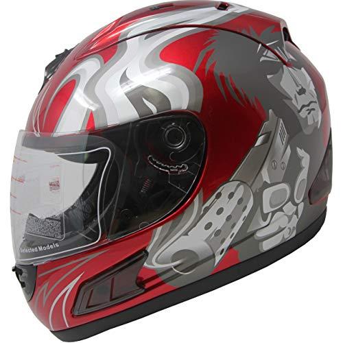 DOT Full Face Motorcycle Sports Bike Helmet