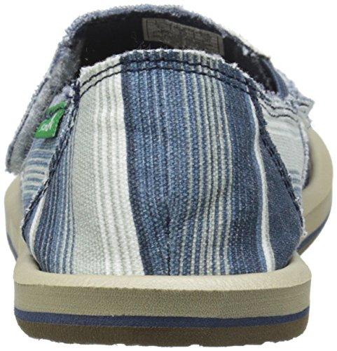 Sanuk Kids Donny Boys Sidewalk Surfer Shoe Blue Poncho Stripes