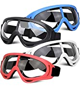 POKONBOY 4 Pack Protective Goggles Safety Glasses Eyewear Compatible with Nerf Guns for Kids Teen...