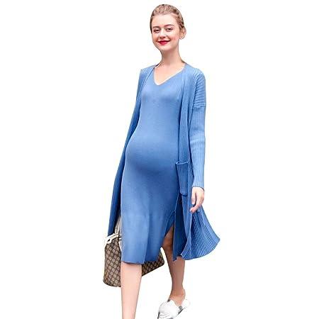 Yijiayu Ropa de Maternidad Primavera y otoño Falda Elegante ...