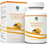 Vitamin B Complex - 5-MTHF Folate with B1, B2, B5, B6, Methyl B12, Niacin, Biotin - Wide Range of Benefits for Stress, Heart Health, Healthy Brain Function, Nervous System Support