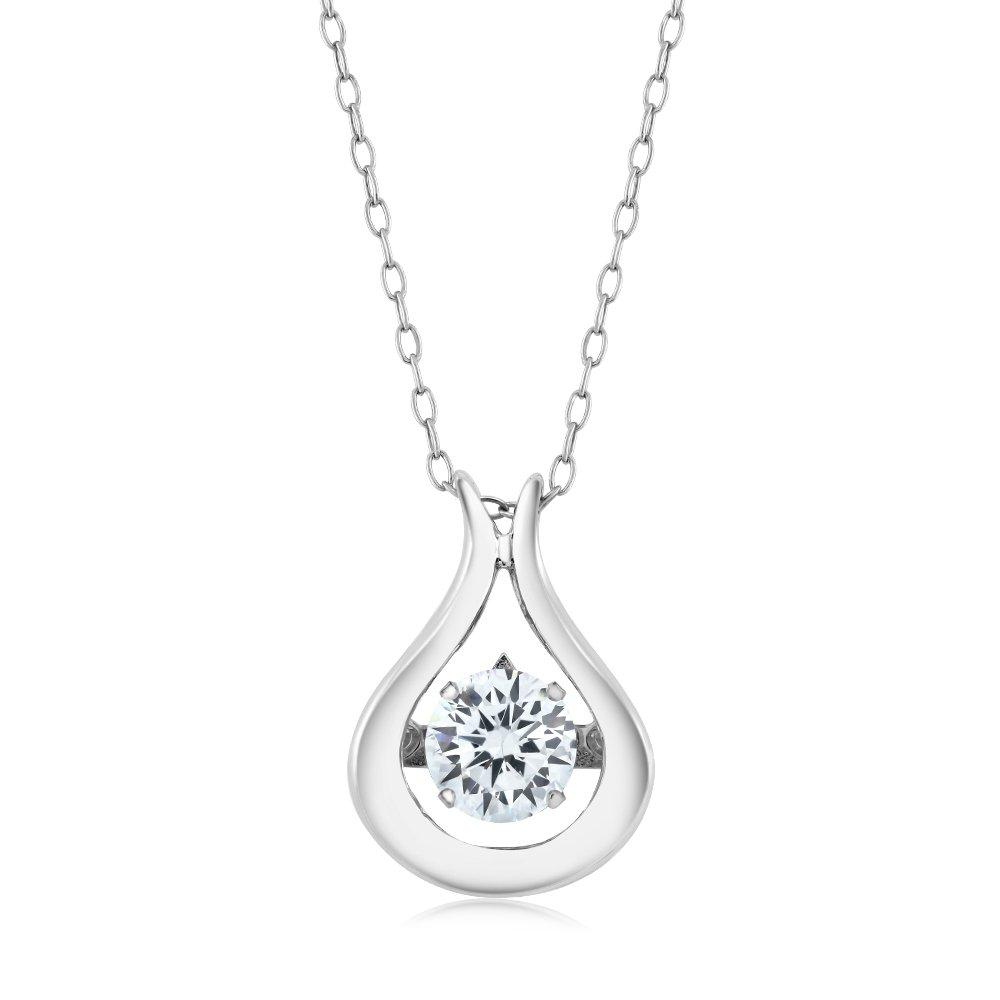 016905c7e5a Amazon.com: 925 Sterling Silver Solitaire Pendant With 18