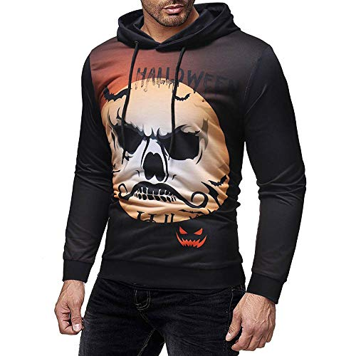 Sonar Satin - Beautyfine Clearance Sale Mens Hooded Sweatshirt Printed Pullover Casual Long Sleeve Tops Blouse
