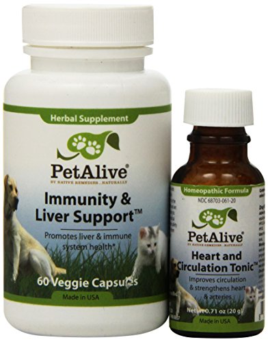 PetAlive Heart & Circulation Tonic and Immunity & Liver Support ComboPack Heart Tonic